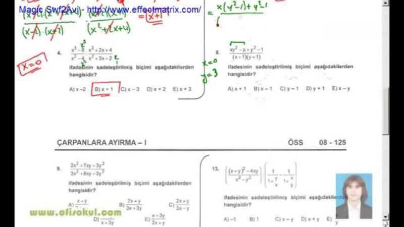 29-Çarpanlara Ayırma 1 - Matematik Soru Çözme Seti - KPSS - YGS - LYS