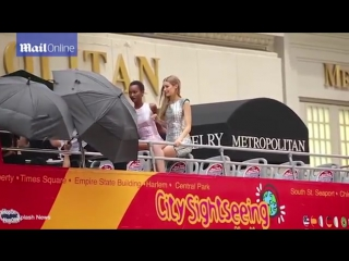 Джиджи на съемках фотосессии в Нью-Йорке, 18 июля