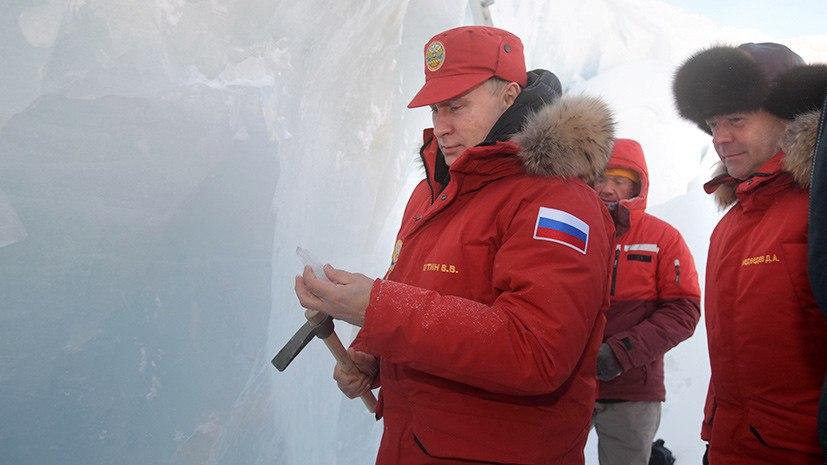 Посещение Путиным и Медведевым Земли Франца-Иосифа