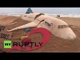 Памятник погибшим в авиакатастрофе Airbus 321-Artist creates sand sculpture of russian 7K9268 plane