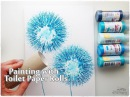 Toilet Paper Rolls Dandelion Painting Technique for Beginners ♡ Maremi's Small Art ♡
