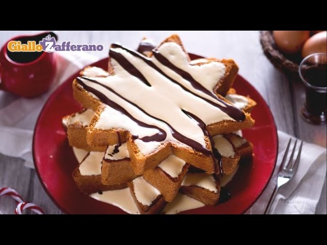 Stelle di pandoro con crema allo zabaione » Freewka.com - Смотреть онлайн в хорощем качестве