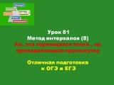Урок 81 Метод интервалов( 8 ) Ах,эта невидимая теряющаяся точка