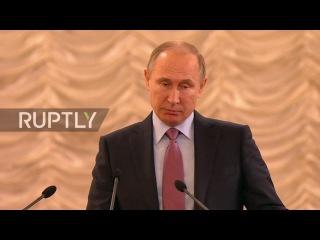 Россия: Путин призывает к увеличению доверия судов на Все-Российском Съезде Судей.