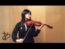 """ヲタリスト Ayasa バイオリンで ハイキュー""""「上」を弾いてみた"""
