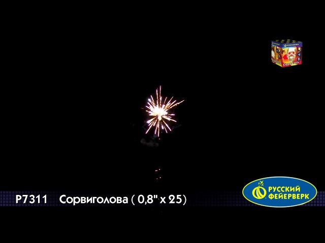 Батареи салютов P7311 Сорвиголова 0,8х25