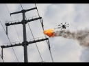 Flamethrower Drone Used to Burn Debris Off Power Lines