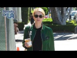 Emma Roberts Models A Green Bomber Jacket While Leaving The Salon In West Hollywood 8.16.16