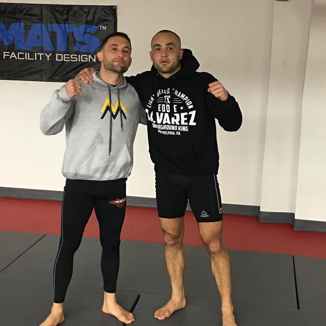 Фрэнки Эдгар и Эдди Альварес готовятся к UFC 205