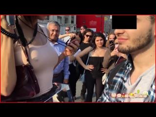 Milo Moiré. О времена. О нравы... Швейцарская художница Мило Муаре предложила прохожим потрогать ее за грудь и вагину