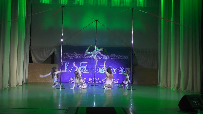 Сафари. Отчетный концерт студии танца на пилоне LMGirls Шоу на трех пилонах