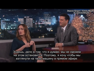 Эмили на шоу Джимми Киммела (16/12/2014) [Rus Sub]
