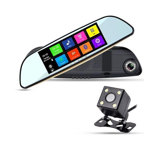 Автовидеорегистратор-зеркало нового поколения XPX ZX837, 2-х камерный, в зеркале заднего обзора + камера заднего вида, на ОС Android с GPS-модулем и Wi-Fi.