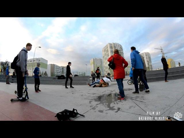 Драка в Янино в скейтпарке