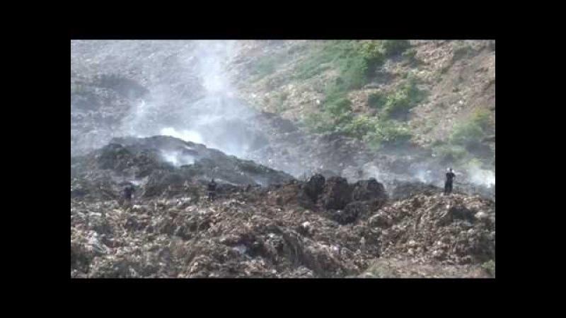 Зсув сміття на території сміттєзвалища в с Збиранка