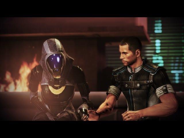 Mass Effect 3 Citadel DLC - Good romance time with Tali ( Tali singing )