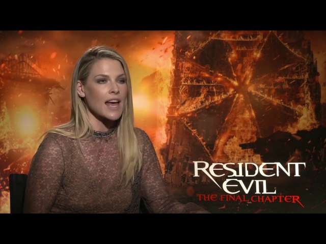 ⍟ Resident Evil The Final Chapter ⍟ Ali Larter talks about her experience making the movie (2017)