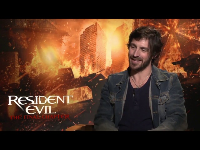 ⍟ Resident Evil The Final Chapter ⍟ Eoin Macken talks about his experience making the movie (2017)