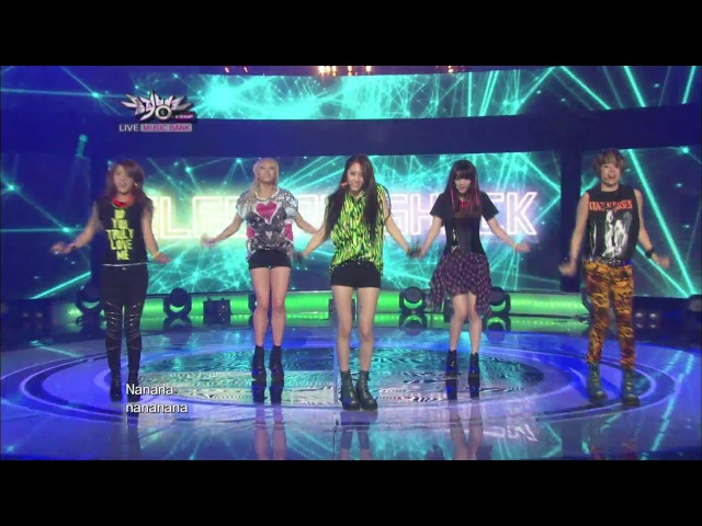 F(x) 에프엑스 Electric Shock KBS MUSIC BANK 2012.06.22