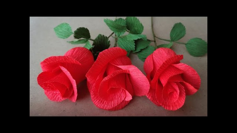 ABC TV | How To Make Rose Paper Flower From Crepe Paper - Easy Craft Tutorial