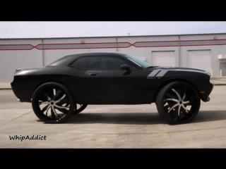 """WhipAddict׃ Worlds First Dodge Challenger R⁄T on 34"""" 964 Rockstarr Wheels by Underground Rim King"""