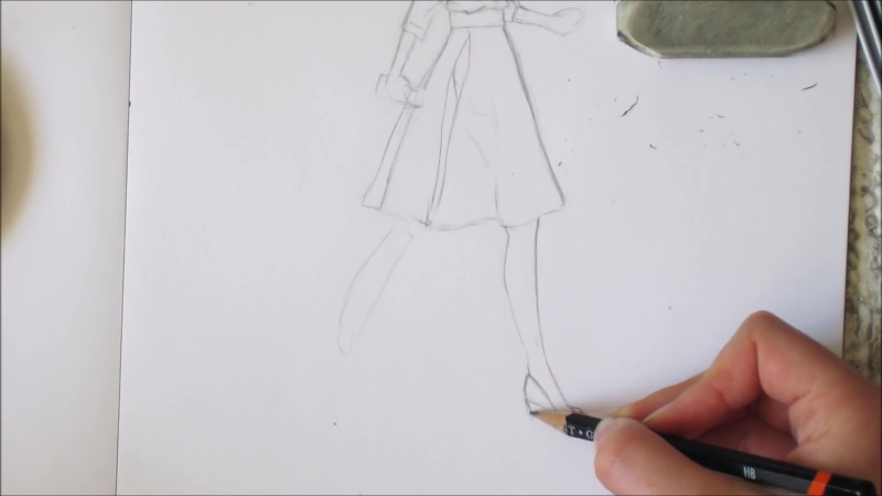HOW TO DRAW a girl in a dress ⁄⁄ Spring outfit ideas