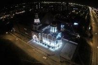 20 сентября 2014 - Тольятти: Вид с воздуха на Поволжский православный институт и окрестности ночью