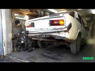 Моя самодельная лебедка для демонтажа двигателей ТС.