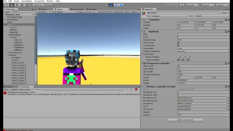 Unity inverse kinematics player