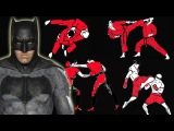 How many fighting styles does Batman know in Batman vs Superman?