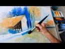 ECKARD FUNCK Aquarell malen ohne Vorzeichnen 2 watercolor painting without sketching