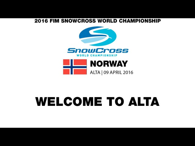 Welcome to the FIM Snowcross World Championship 2016 Round 2 - Norway