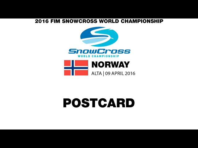 Postcard FIM Snowcross World Championship 2016 Round 2 Norway