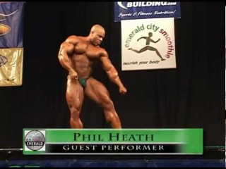 Phil Heath guest posing at the 2001 Emerald Cup