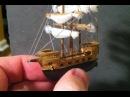 BEST Miniature Balsa Wood Boat Carving Time-Lapse Sculpey Ocean