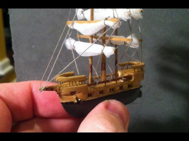 BEST Miniature Balsa Wood Boat Carving Time Lapse Sculpey Ocean