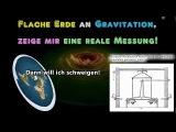 Flache Erde an Gravitation, zeige mit eine echte Messung