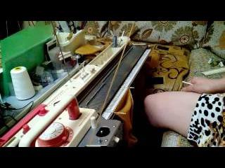 Вязание носков без сшивания /цельновязаные/ на Toyote 858.