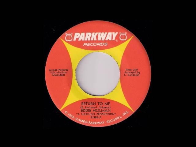 RB Soul 45: Eddie Holman - Return To Me [Parkway Records] 1966 Musicdawn 45's
