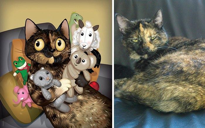 Шуточные портреты домашних животных (10 фото)