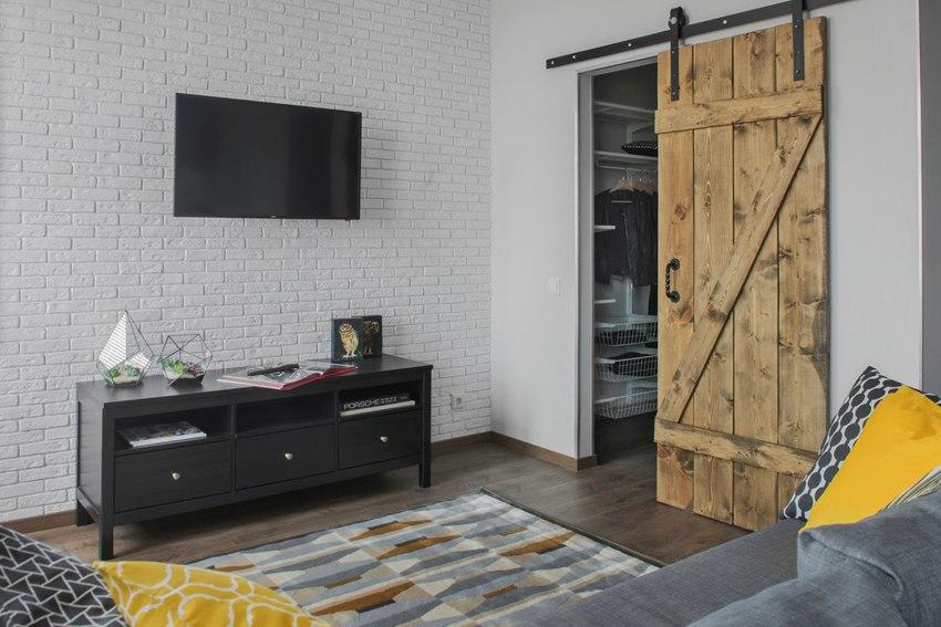 Интерьер квартиры-студии 33 м в Красногорске.