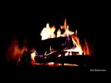 Огонь в камине со звуком горящих поленьев HD