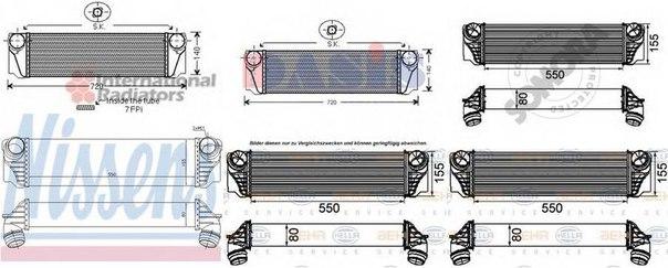 Интеркулер для BMW 7 (F01, F02, F03, F04)