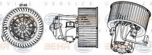 Вентилятор салона; Устройство для впуска, воздух в салоне для BMW 7 (F01, F02, F03, F04)