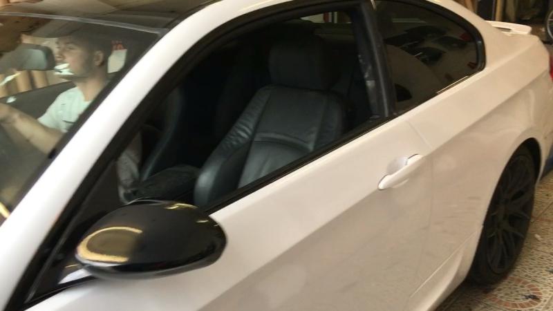 BMW 335i оклейка в білий коляр