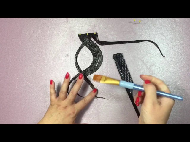 How to make a hairpiece for UpDo