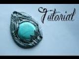 Silver &amp Turquoise Polymer Clay Feather Pendant Tutorial  DIY Jewellery  Fantasy  Velvetorium