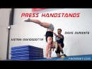 Dave Durante works Press Handstands with CrossFit Games Champion Katrin Davidsdottir