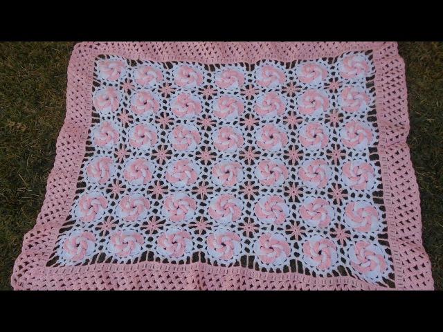 Manta /cobijita /colcha / frazada para bebe en crochet fácil y rápido (original) parte 1 de 3
