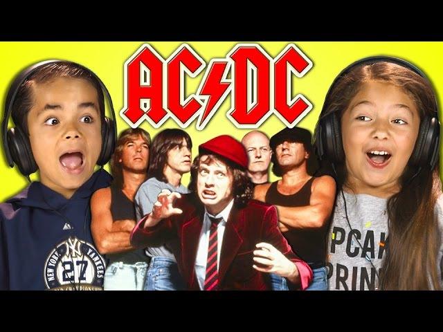 KIDS REACT TO AC/DC